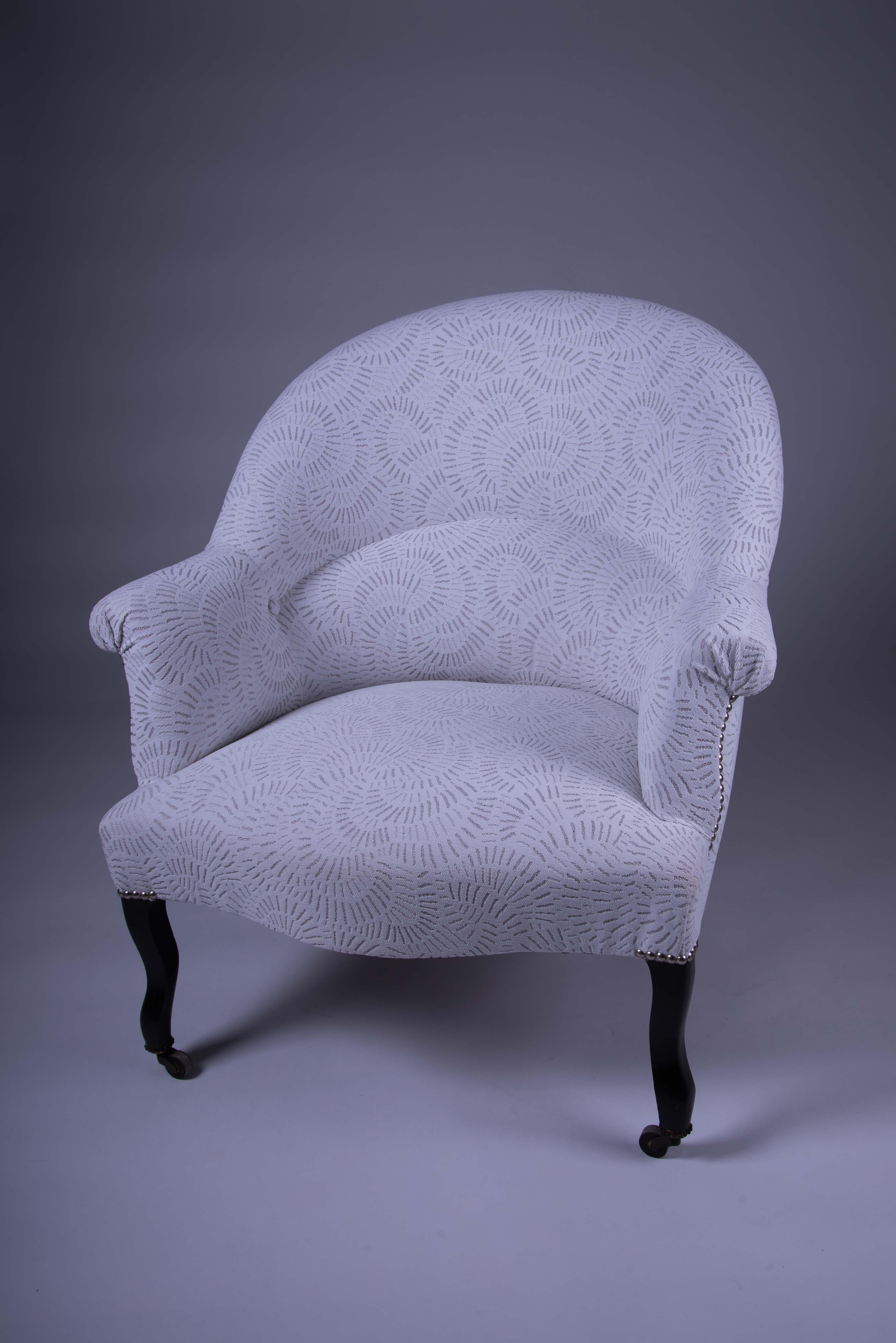 fauteuil crapaud restauré