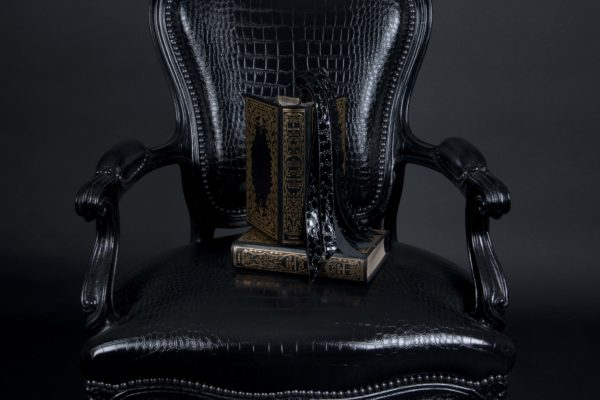 fauteuil napoléon III Croco Noir