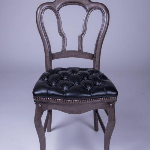 chaise louis philippe capitonnée