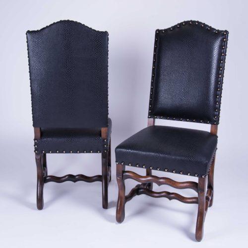 chaises cobra imitation